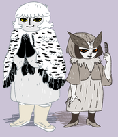 owl ladies by Spoonfayse