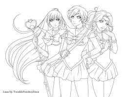 Outer Senshi -Lines- by TwinklePowderySnow