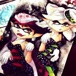 Squid Sisters by HyliaBeilschmidt