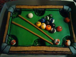 pool table cake by greeneyes3675