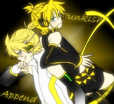 Len Kagamine Append and Punkish by HyuugaChick