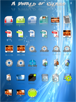 A World of Glass Dock Icons by vista-man