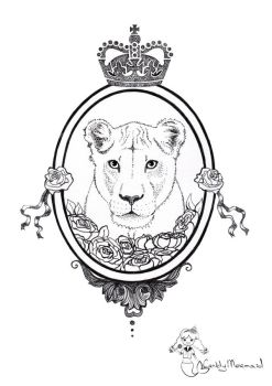 Lioness. Sketch for tatoo by CandyMermaid