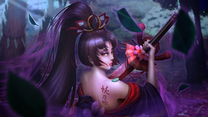 Onmyoji Fan Art: Yoto Hime's Cursed Blade by SongjoArts
