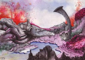 Volcanic Abstract Lands by Ariad-Arts