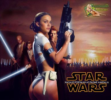 Natalie Portman as Padme Amidala in Star Wars by c-edward