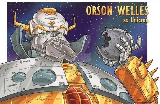 Orson Welles as Unicron by GeekingsCards