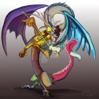 Discord plays the Golden Violin by Mad--Munchkin