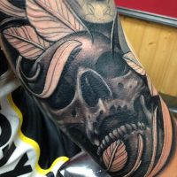 Skull tattoo sleeve by craig Holmes by CraigHolmesTattoo