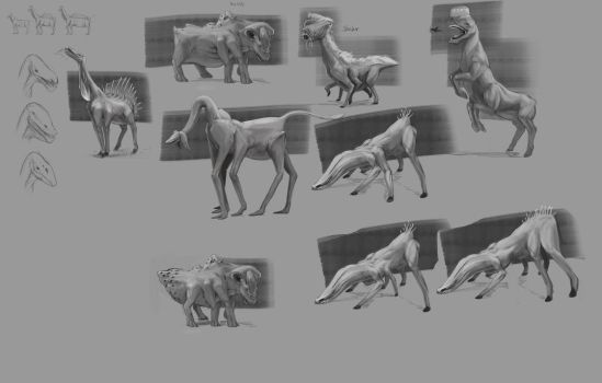 Grazing Creature Concepts by MackinX