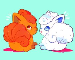Vulpix and Vulpix Alola Form by Butapokko