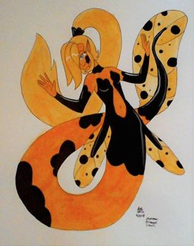 MerMay: Black and Orange by RedVioletPanda