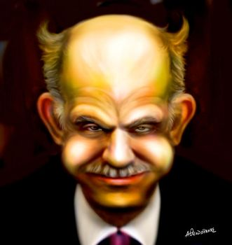 George Papandreou caricature by antonist