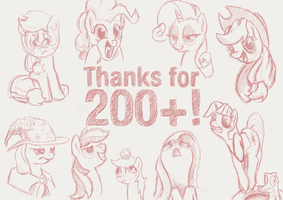 Thanks for 200+ watchers! by FiddleArts