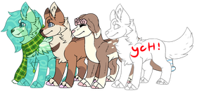 pickle Pups ych {Closed} by BuckyB00