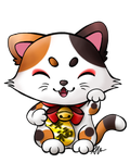 Maneki Neko of Happiness by anineko
