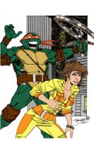 Thincages Mikey and April by Kenkira