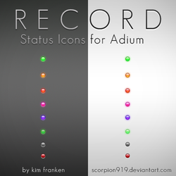 RECORD - Adium Status Icons by scorpion919