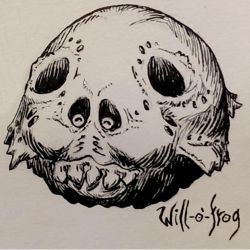 Inktober 13 Will-o'-frog by butterfrog