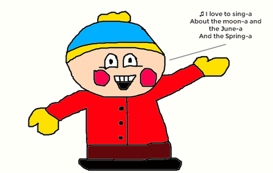 Eric Cartman Singing I Love to Singa by MikeJEddyNSGamer89
