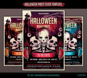 Halloween Party Flyer Template #3 by olgameola
