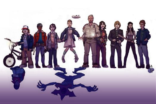 FAN ART: Stranger Things cast by jasinmartin