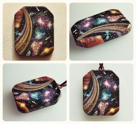 Space - Handpainted Pendant by Aijoku