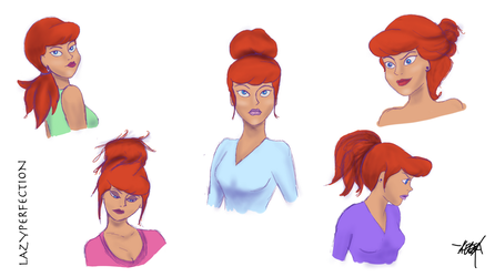 Daphne Hair Studies by LazyPerfection