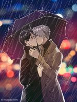 Yuri on Ice - Rainy Spring by maXKennedy