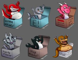Box ych set #6 by lizathehedgehog