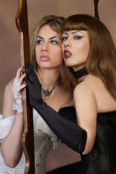 Good and Evil XXX Mirror Stock by tanit-isis-stock