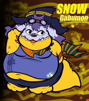 Snow Gabumon New Improved by SnowGabumon