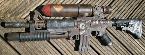 post apocalyptic M16 by steelgohst