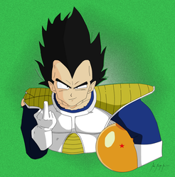 Vegeta Finger by ImJohnny