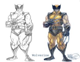 Wolverine before and after by MicahJGunnell