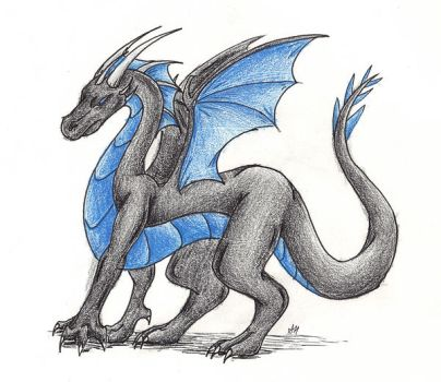 Night-Clawler's Dragon by WyvernFlames