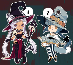 closed - Neko Witchies Auction by Kariosa-Adopts