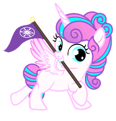 Flurry Heart Crystal Pony by Little903