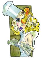 Lady Gaga from Telephone music video by Caricature80