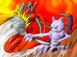 RQ - Mewtwo VS Deoxys by hea777