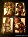 Rival Heroes Sketchcards: set 7 by suicidalassassin