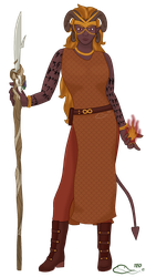 Nobody the Tiefling Druid by The-Emerald-Otter