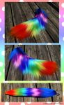 FOR SALE Rainbow Yarn Tail by Black-Heart-Always
