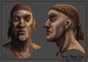 Pirate Concept Art by GenoPunk