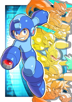 Megaman Legacy by ultimatemaverickx