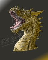 Detailed Roaring Dragon by Zeezy