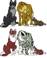 wolf adoptables by poisonflame