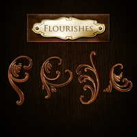Flourishes - PNG by Spiral-0ut