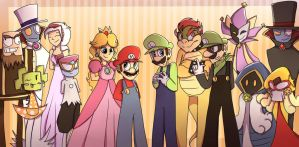 Super Paper Mario Characters by mariogamesandenemies