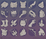 Fantasy sketch icons by PVersus